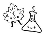 Dibujo de Asignatura de ciencias para colorear