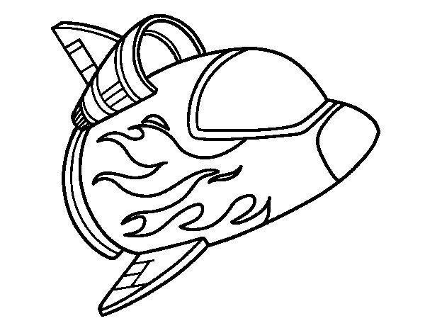 Dibujo de Astronave para Colorear