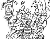 Dibujo de Banda de música para colorear