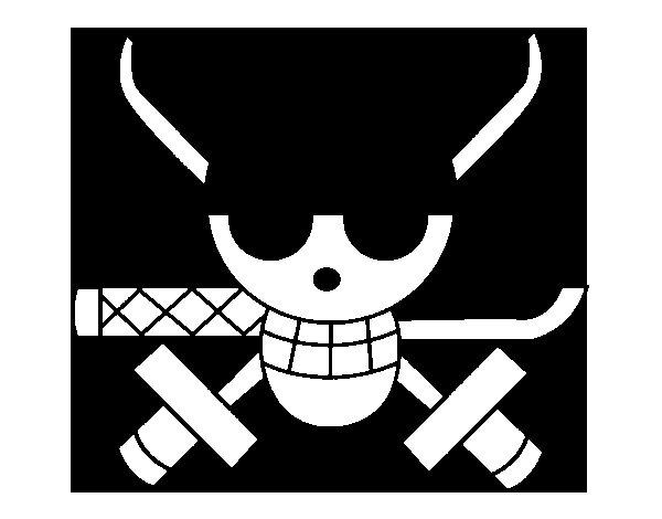 Dibujo de Bandera de Zoro para Colorear