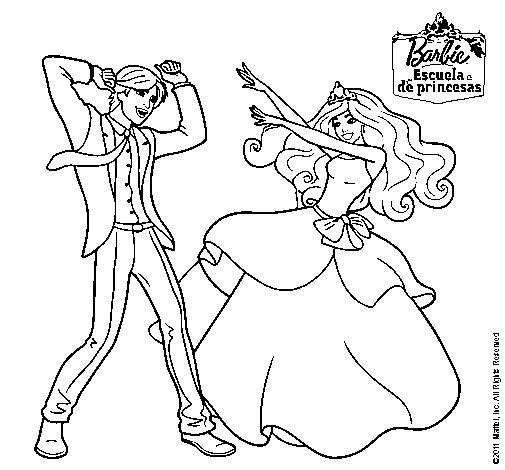 Juegos Para Colorear De Barbie. Dibujos De Principes Y Princesas ...