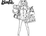 Dibujo de Barbie de compras para colorear