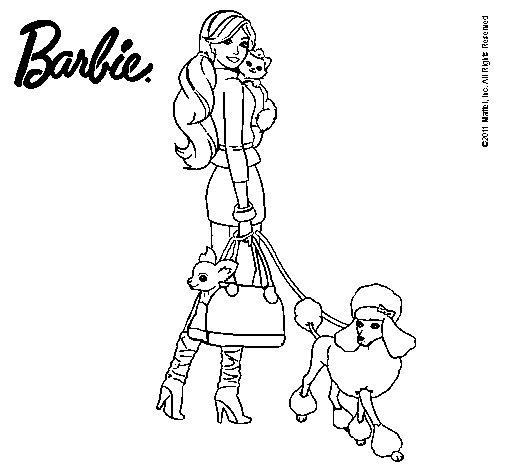 Dibujo de Barbie elegante para Colorear  Dibujosnet