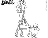 Dibujo de Barbie elegante para colorear