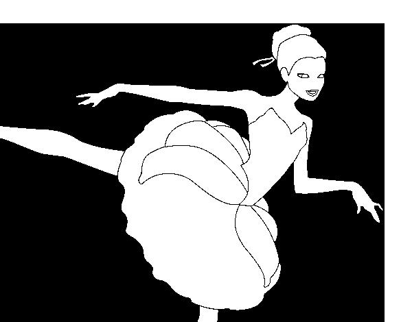 Dibujo de Barbie en primer arabesque para Colorear  Dibujosnet