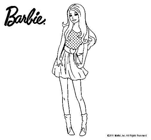 Dibujo de Barbie veraniega para Colorear  Dibujosnet