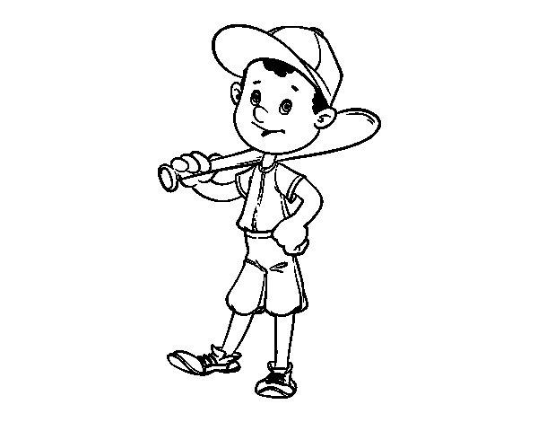 Dibujo de Bateador de béisbol para Colorear