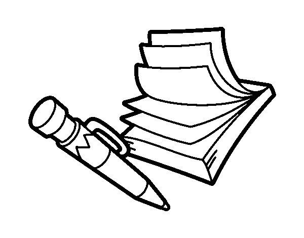 Dibujo de Bloc de notas para Colorear
