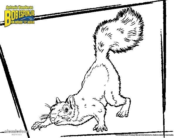 Dibujo de Bob Esponja  La roedora al ataque para Colorear