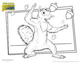Dibujo de Bob Esponja - La roedora para colorear