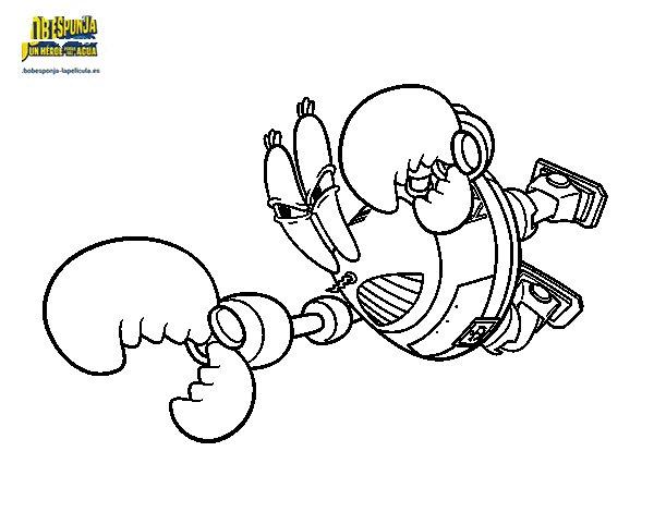Dibujo de Bob Esponja - Sir pinchamucho al ataque para Colorear