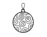 Dibujo de Bola de árbol de Navidad decorada para colorear