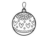 Dibujo de Bola de Navidad estampada para colorear