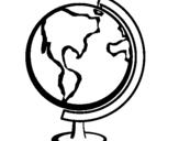 Dibujo de Bola del mundo II para colorear
