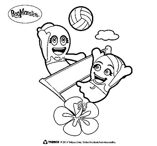 Dibujo de BooMonsters 2 para Colorear
