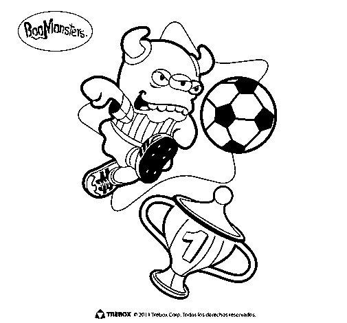 Dibujo de BooMonsters 3 para Colorear