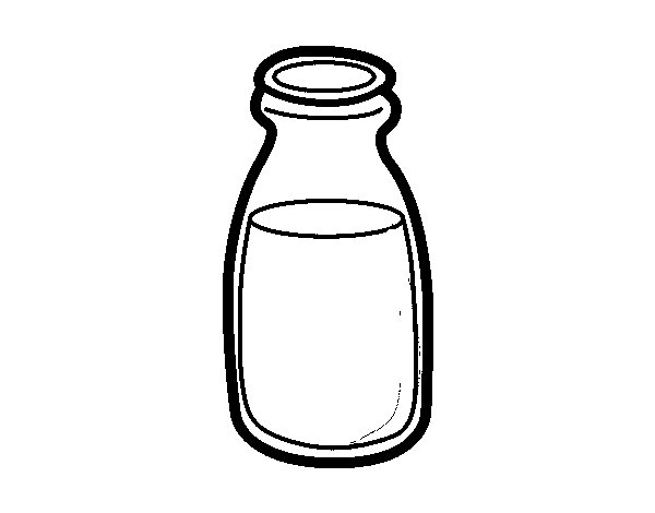 Dibujo de Botella de leche para Colorear  Dibujosnet