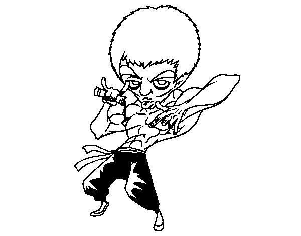 Dibujo de Bruce Lee para Colorear