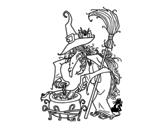 Dibujo de Bruja con pócima