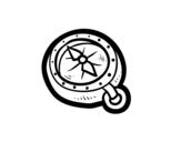 Dibujo de Brújula pirata para colorear