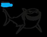 Dibujo de Buscando a Nemo - Bruce