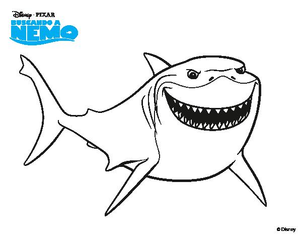 Imagenes De Los Tiburones De Nemo Para Colorear