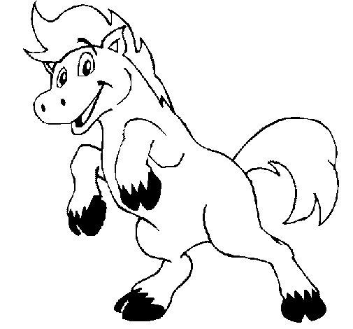Dibujo de Caballo contento para Colorear