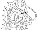 Dibujo de Cabeza de dragón 1 para colorear