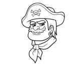 Dibujo de Cabeza de pirata