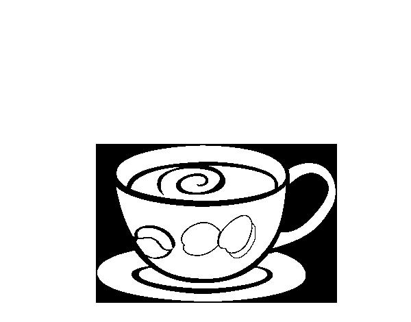Cafe Dibujo Para Colorear