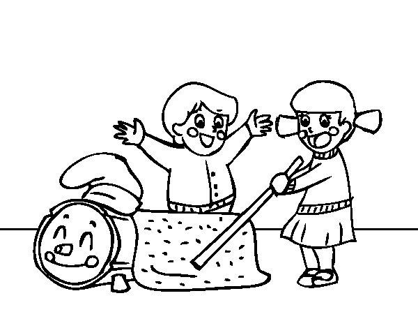 Dibujo de Caga Tió para Colorear - Dibujos.net