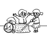 Dibujo de Caga Tió  para colorear