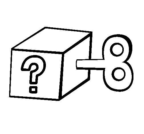 Dibujo de Caja sorpresa para Colorear