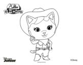 Dibujo de Callie en el oeste para colorear
