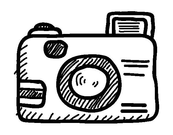 Dibujo de Cmara rflex para Colorear  Dibujosnet