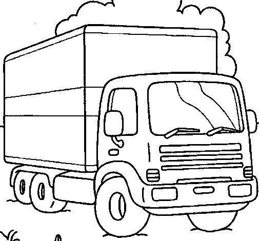 Dibujo de Camión 3 para Colorear
