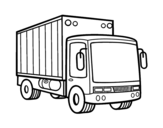 Dibujo de Camión de mercancias para colorear