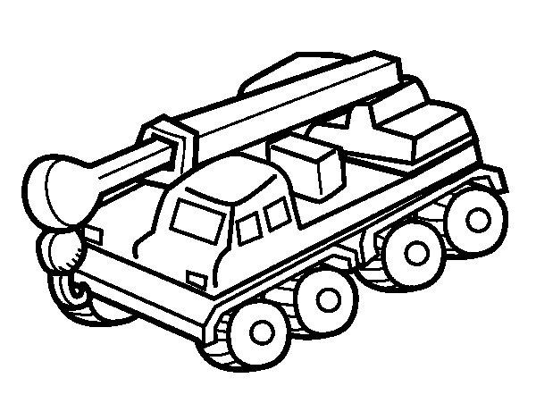Dibujo de Camión grúa para Colorear