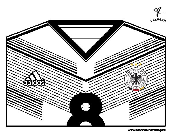 Dibujo de Camiseta del mundial de fútbol 2014 de Alemania para ...