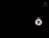 Dibujo de Camiseta del mundial de fútbol 2014 de Alemania para colorear