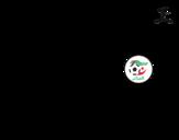 Dibujo de Camiseta del mundial de fútbol 2014 de Argelia para colorear
