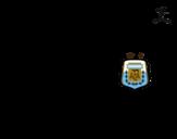 Dibujo de Camiseta del mundial de fútbol 2014 de Argentina para colorear