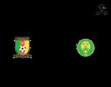 Dibujo de Camiseta del mundial de fútbol 2014 de Camerún para colorear