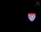 Dibujo de Camiseta del mundial de fútbol 2014 de los Estados Unidos para colorear