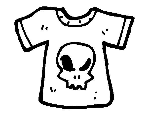 Dibujo de Camiseta emo para Colorear - Dibujos.net