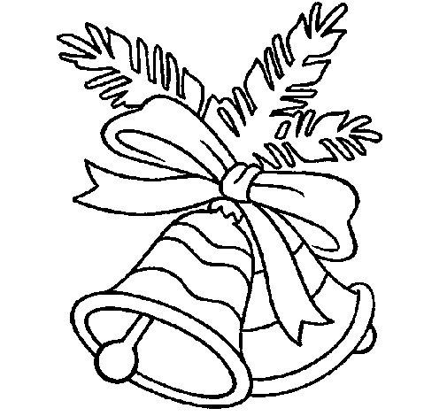 Dibujo de Campanas de navidad para Colorear