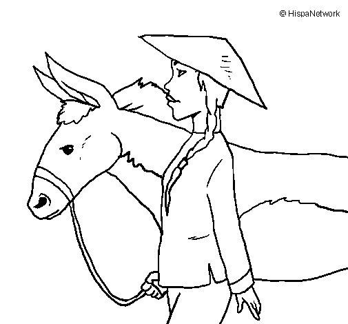 Dibujo de Campesino chino para Colorear