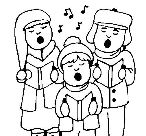 Dibujo de Canciones navideñas para Colorear