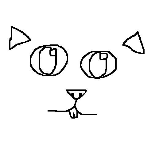 Dibujo de Cara de gato para Colorear