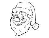 Dibujo de Cara de Santa Claus para colorear